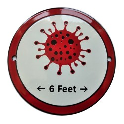 Weatherproof Coronavirus Enamel Shield / Sign 15 cm