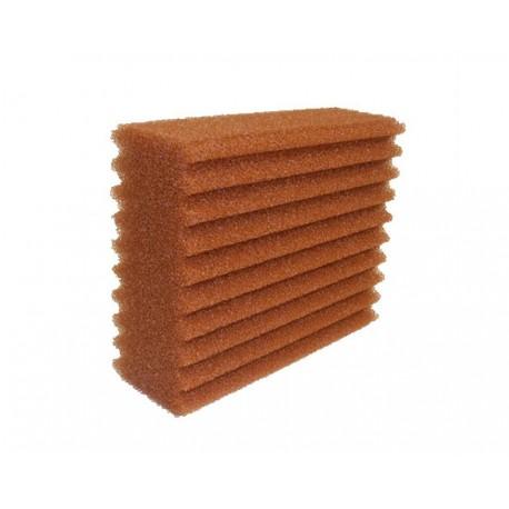 Huismerk Vijverfilter spons 25 x 20 x 9 cm ribbel