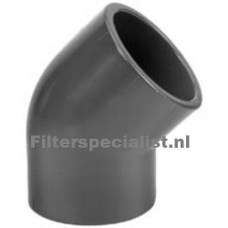 Druk PVC 45º 50mm